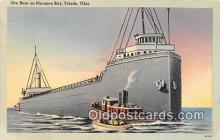 shi055065 - Ore Boat, Maumee Bay Toledo, Ohio USA Ship Postcard Post Card