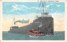 shi055066 - Ore Boat Conneaut, Ohio USA Ship Postcard Post Card