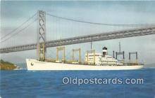 shi055067 - SS America Transport Outbound to the Orient Ship Postcard Post Card
