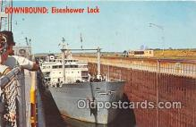 shi055077 - Eisenhower Lock The Peerless Ship Postcard Post Card