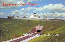 shi055080 - Eisenhower Lock Tunnel Massena, NY USA Ship Postcard Post Card