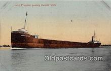 shi055081 - Lake Freighter Detroit, Michigan USA Ship Postcard Post Card