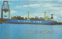 shi055082 - MS Kyowa Hibiscus Home Port Kobe, Japan Ship Postcard Post Card