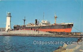 shi055104 - Italian Freighter Etrusco Emden, Germany Ship Postcard Post Card