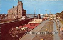 shi055114 - Soo Locks Sault Ste Marie, Michigan USA Ship Postcard Post Card