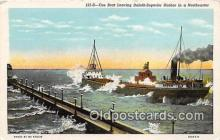 shi055146 - Ore Boat Duluth Superior Harbor Ship Postcard Post Card