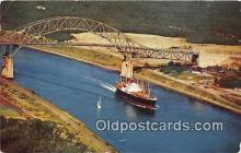 shi055153 - Cape Cod MA USA Canala & Sagamore Bridge  Ship Postcard Post Card
