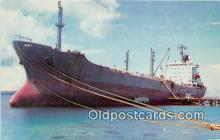 shi055164 - MS Conestoga Mobil Tanker, Port of Guam Ship Postcard Post Card