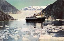 shi055177 - Tracy Arm SS Glacier Queen, SS Yukon Star Ship Postcard Post Card