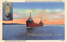 shi055183 - Giant Freighters Lake Superior USA Ship Postcard Post Card