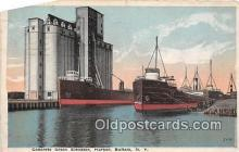 shi055185 - Concrete Grain Elevatro, Harbor Buffalo, NY USA Ship Postcard Post Card