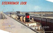 shi055186 - Eisenhower Lock Massena, NY USA Ship Postcard Post Card
