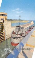 shi055187 - St Lawrence Seaway & Power Project Canada Ship Postcard Post Card