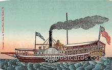 shi056006 - First Steamboat, Lake Champlain Burlington, Vermont USA Ship Postcard Post Card