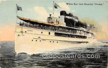 shi056012 - White Star Line Steamer Owana Ship Postcard Post Card