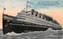 shi056018 - See & Bee C & B Line  Ship Postcard Post Card