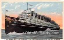 shi056019 - See & Bee C & B Line Steamer on Inland Ship Postcard Post Card