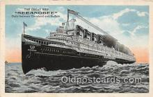 shi056023 - Great Ship Seeandbee Cleveland & Buffalo Ship Postcard Post Card