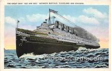 shi056024 - Great Ship Seeandbee Buffalo & Cleveland Ship Postcard Post Card