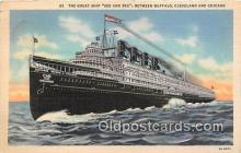 shi056025 - Great Ship Seeandbee Cleveland & Chicago Ship Postcard Post Card