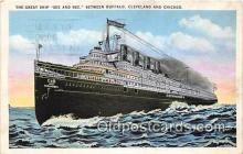shi056026 - Great Ship Seeandbee Buffalo, Cleveland & Chicago Ship Postcard Post Card
