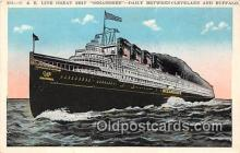 shi056028 - C & B Line Great Ship Seeandbee Cleveland & Buffalo Ship Postcard Post Card