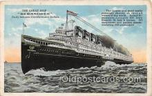 shi056029 - Non Postcard Backing Great Ship Seeandbee Cleveland & Buffalo Ship Postcard Post Card