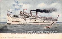 shi056031 - Steamer Theodore Roosevelt Chicago & Michigan City Line Ship Postcard Post Card