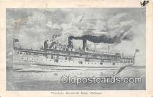 shi056032 - Theodore Roosevelt Boat Chicago Ship Postcard Post Card