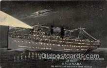 shi056033 - SS Theodore Roosevelt Escanaba, Michigan Ship Postcard Post Card