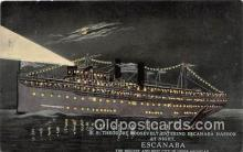 shi056034 - SS Theodore Roosevelt Escanaba, Michigan Ship Postcard Post Card