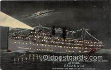 shi056035 - SS Theodore Roosevelt Escanaba, Michigan Ship Postcard Post Card