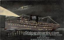 shi056036 - SS Theodore Roosevelt Escanaba, Michigan Ship Postcard Post Card