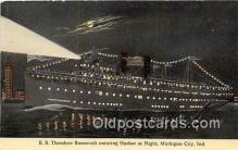 shi056038 - SS Theodore Roosevelt Michigan City, Ind Ship Postcard Post Card