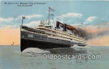shi056040 - New D & C Steamer City of Cleveland  Ship Postcard Post Card