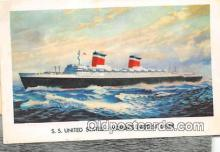 shi056042 - SS United States SS America, New York Ship Postcard Post Card