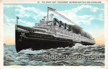 shi056043 - Great Ship Seeandbee Buffalo & Cleveland Ship Postcard Post Card