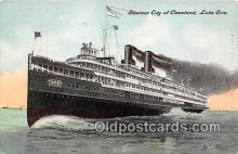 shi056046 - Steamer City of Cleveland Lake Erie Ship Postcard Post Card
