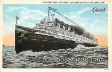 shi056047 - Great Ship Seeandbee Buffalo & Cleveland Ship Postcard Post Card