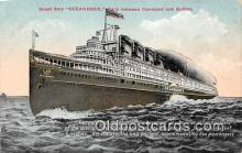 shi056050 - Great Ship Seeandbee Cleveland & Buffalo Ship Postcard Post Card