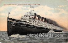 shi056052 - See & Bee Steamer Great Boat of the C & B Line Ship Postcard Post Card