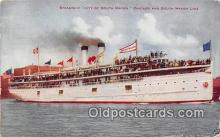 shi056058 - Steamship City of South Haven Chicago & South Haven Line Ship Postcard Post Card