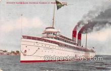 shi056061 - Steamer North Land Mackinac, Michigan Ship Postcard Post Card
