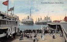 shi056062 - Excursion Steamers Detroit River Ship Postcard Post Card