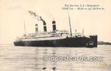 shi056075 - Red Star Line SS Belgenland Ship Postcard Post Card