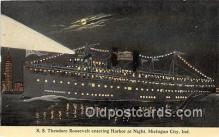 shi056077 - SS Theodore Roosevelt Michigan City, Ind Ship Postcard Post Card