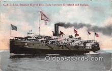 shi056078 - C & B Line, Steamer City of Erie Cleveland & Buffalo Ship Postcard Post Card