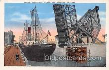 shi056080 - Locks, Undustrila Canal New Orleans, LA Ship Postcard Post Card