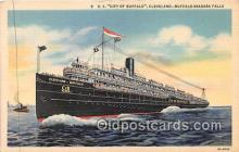 shi056084 - SS City of Buffalo Cleveland, Buffalo Niagara Falls Ship Postcard Post Card
