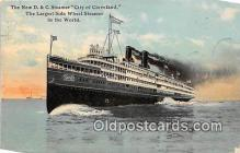 shi056085 - New D & C Steamer City of Cleveland  Ship Postcard Post Card